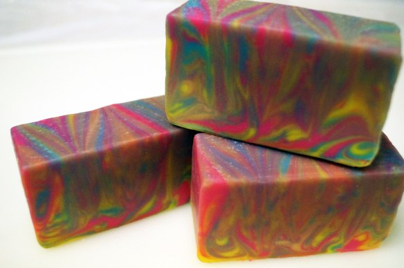 Neon-Swirl-Soap-Bars